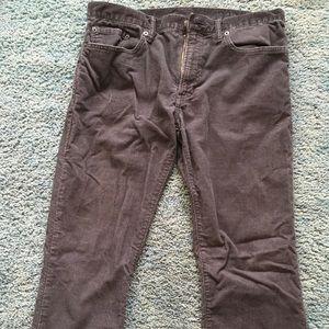 Gap Corduroy Black Pants Slim 32 x 32